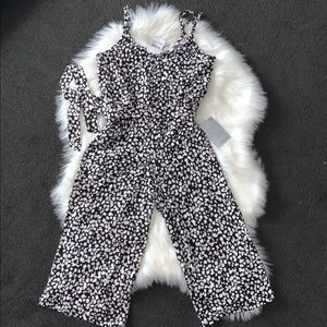 Velvet Torch black and white jumpsuit romper